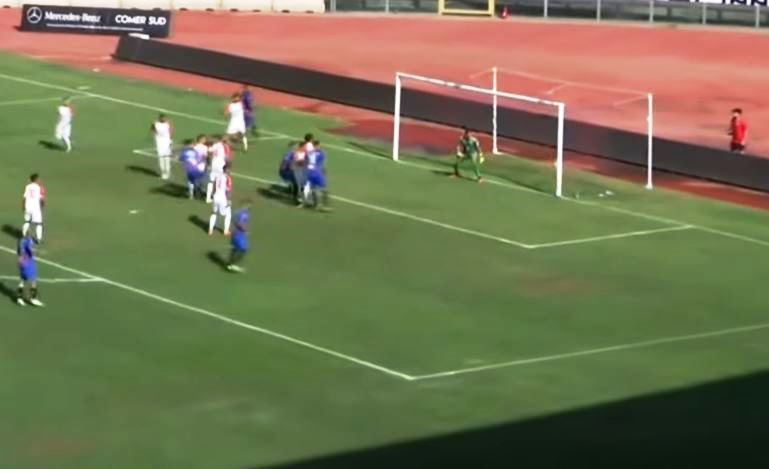 Catania - Bari, il gol di Moro