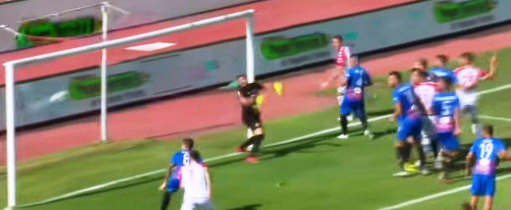 Catania - Bari, il primo gol di Terranova