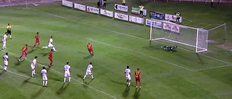 Catanzaro - Catania, il gol di Carlini